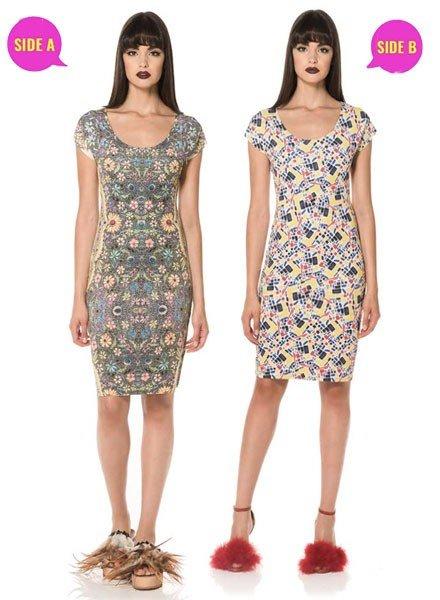 Animapop Animapop Reversible 1960's Garden Dress