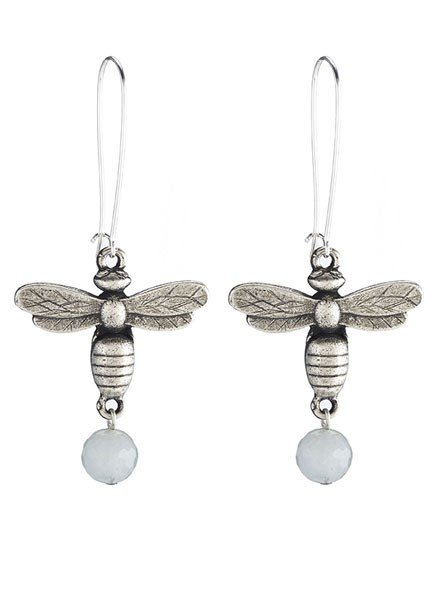 French Kande French Kande Silver Miel Earrings With Aquamarine
