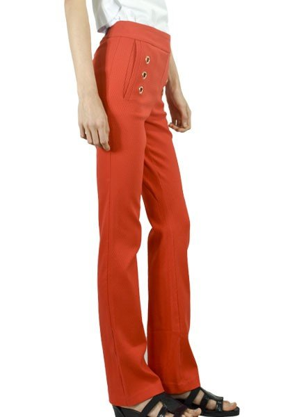 Renuar Renuar Sailor Pant In Tomato