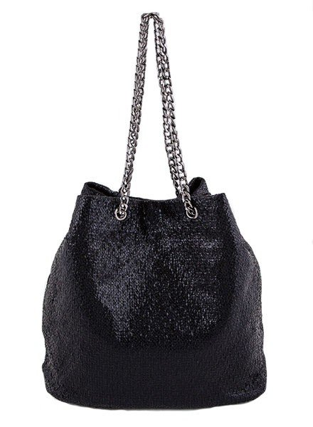 My Textured Bucket Bag In Black