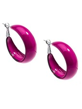 Mod Resin Hoops In Hot Pink