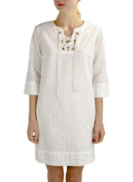 Renuar Renuar's Eyelet Dress In White