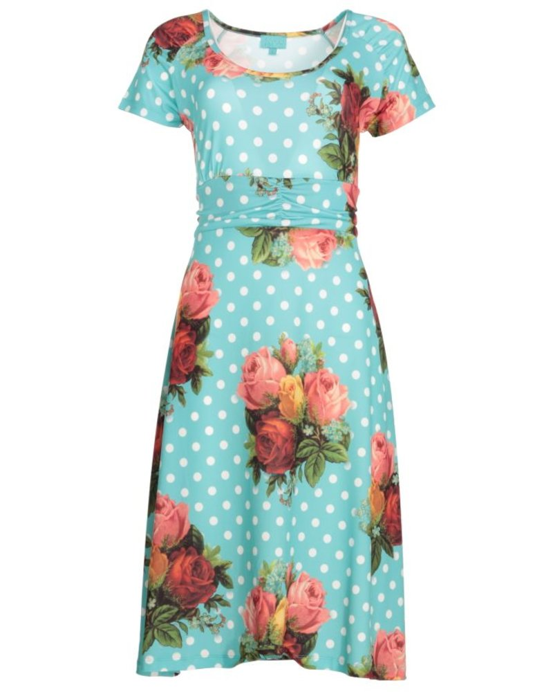 LaLamour LaLamour Lindy Dress In Turquoise