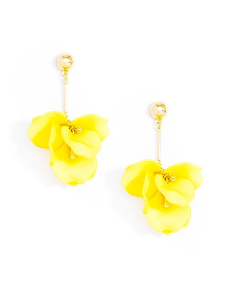 Pastel Petal Earrings In Yellow