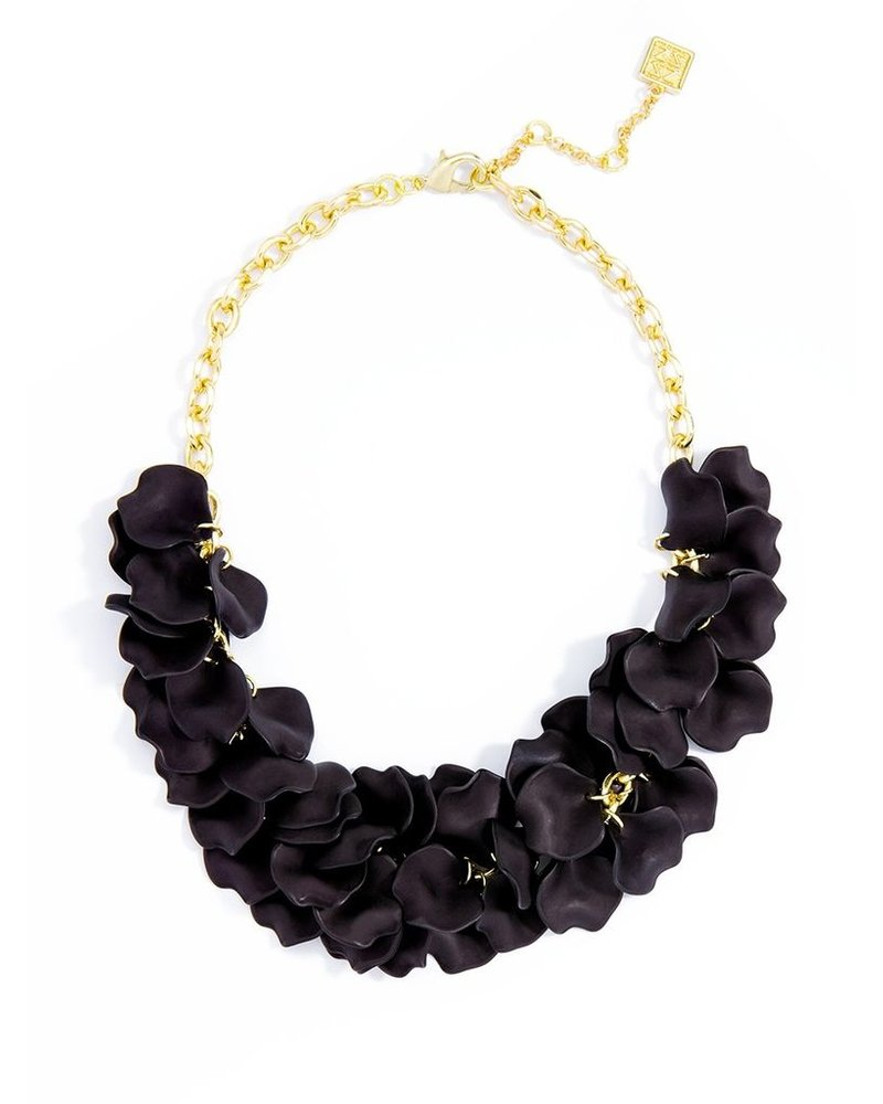 Pastel Petals Necklace In Black