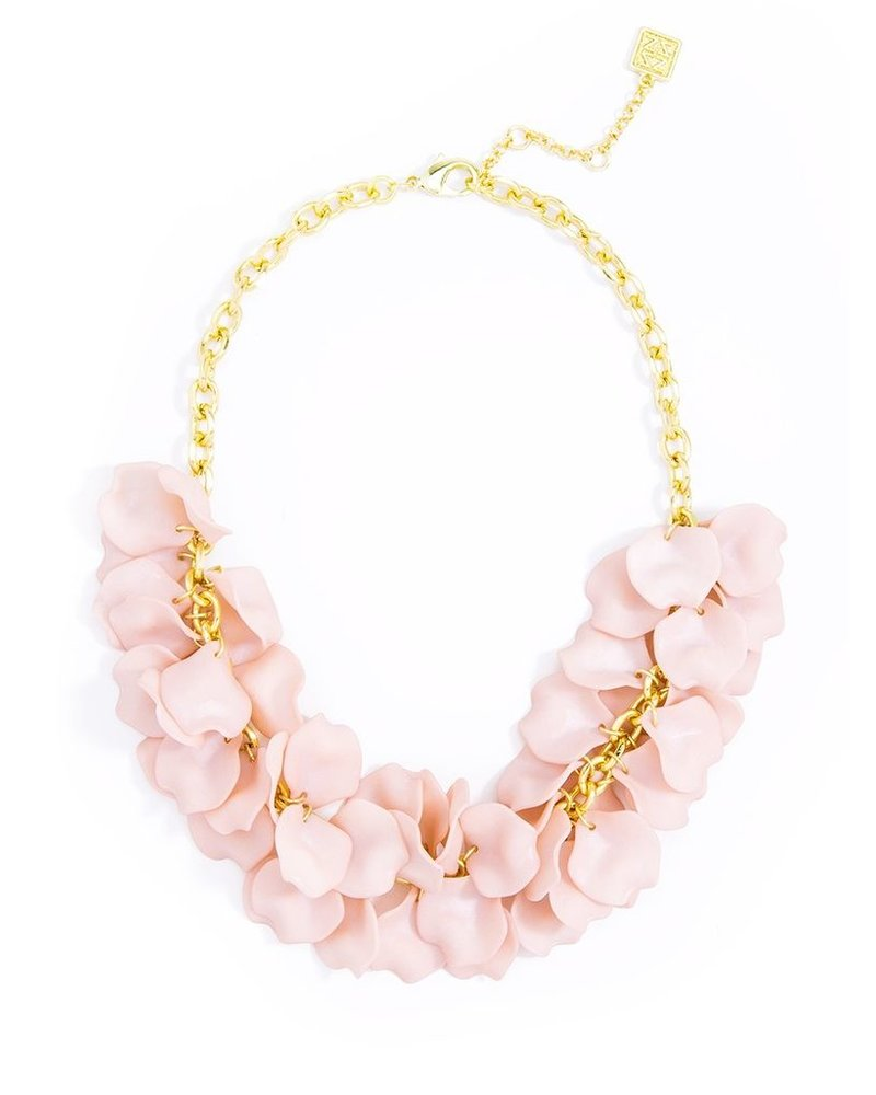 Pastel Petals Necklace In Rose
