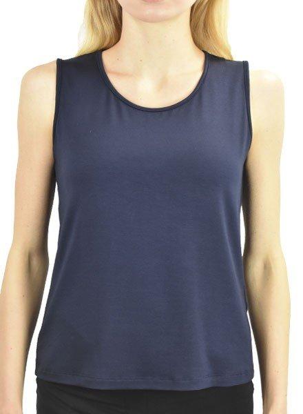 Comfy U.S.A. Comfy's Wide Strap Tank In Navy