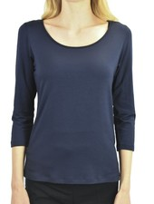 Comfy Scoop Neck Tee In Navy