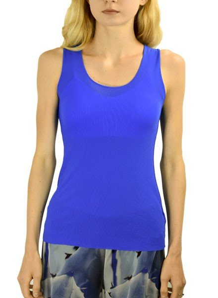 Petit Pois Long Lean Scoop Tank In Cobalt
