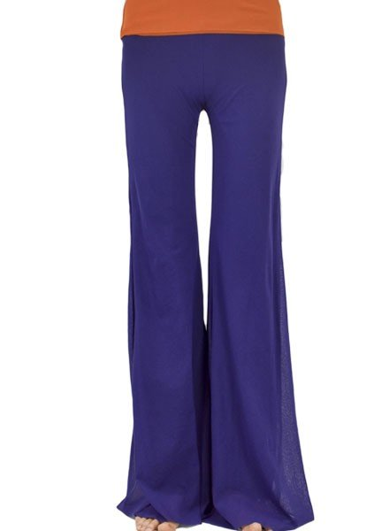 Petit Pois Triple Layer Bell Bottom Pant In Acai