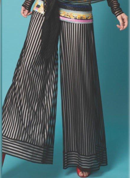 Petit Pois Double B&W Stripe Pant