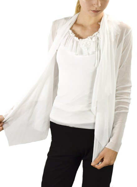 Petit Pois' Wrap Jacket In White