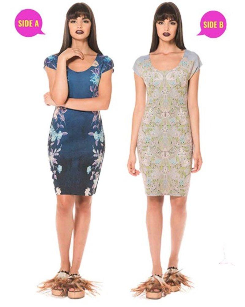 Animapop Animapop Reversible Blue Vine Dress