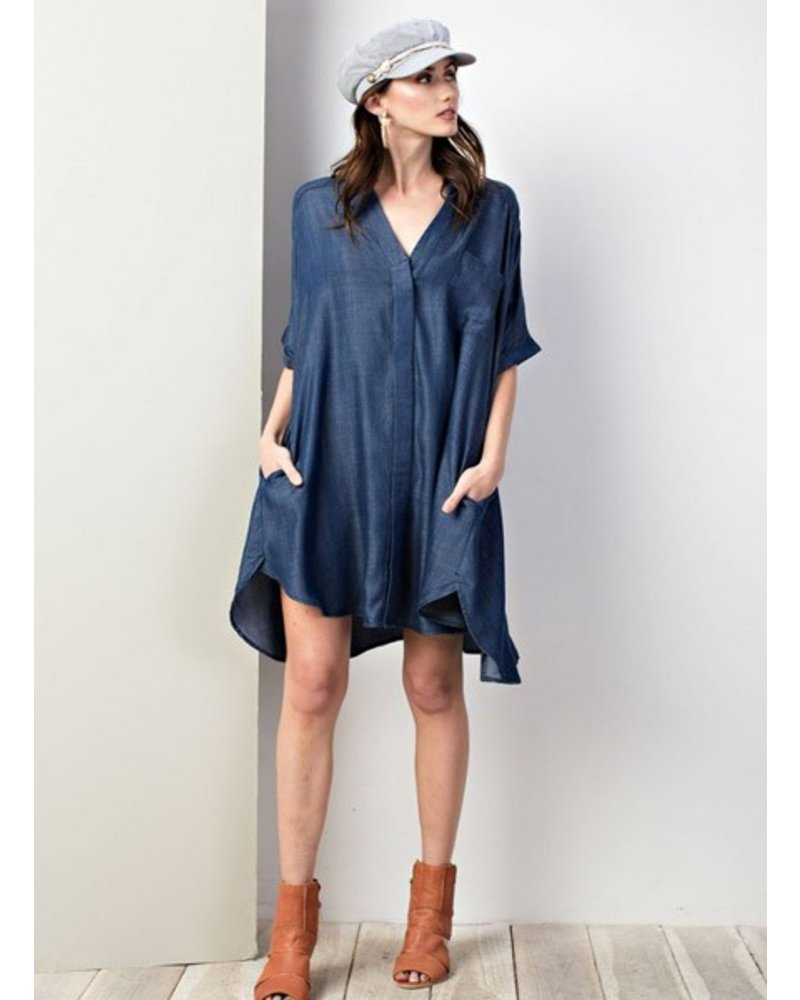 Easy Button Down Dress