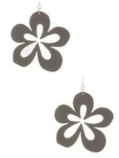 Cutting Flower Earrings In Gry