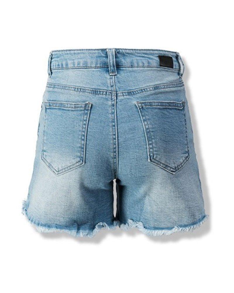 Distressed Vintage Denim Shorts