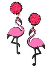 Flamingo Island Beaded Earrings
