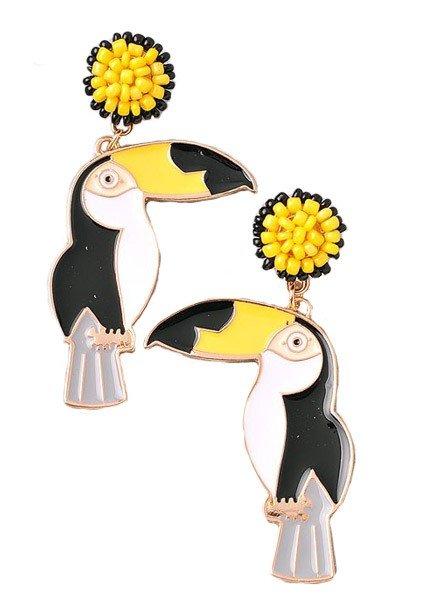 Toucan Sam Beaded Earrings