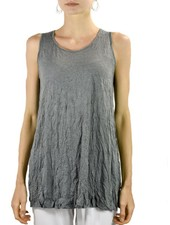 Comfy Slim Long Tank In Crinkle Slate