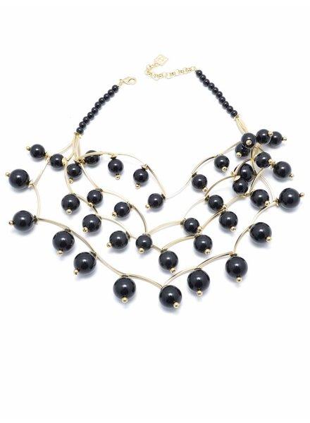 Pearl Glam Bib Necklace