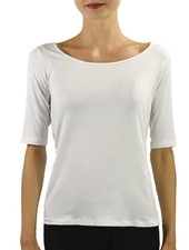 Comfy's Elbow Sleeve Tee In White