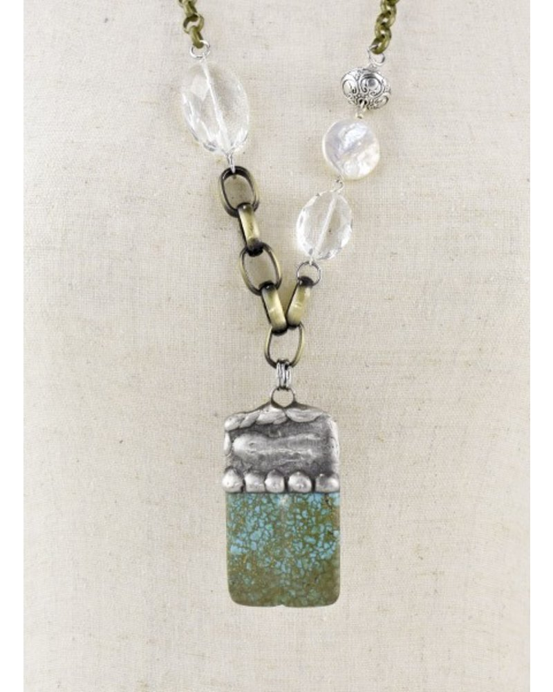 Turquoise Chunk Handmade Necklace