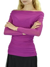 Petit Pois' Shirred Cowl Neck Top In Magenta