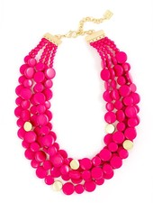 Oh My Dots! Beaded Necklace In Hot Pink