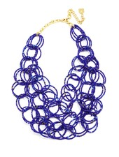 We Bead-LONG Together Link Necklace In Cobalt