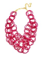 We Bead-LONG Together Link Necklace In Hot Pink