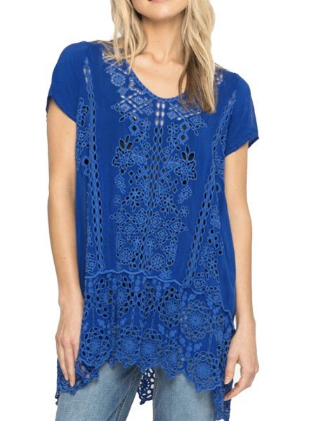 Johnny Was Johnny Was Kaylyn Tunic In Blueberry Blast