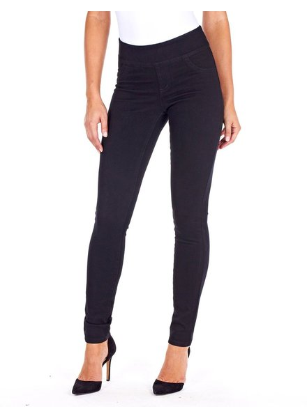 French Dressing Love Denim Slim Jegging In Black Denim