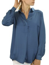 Renuar Renuar's Easy Shirt In Teal