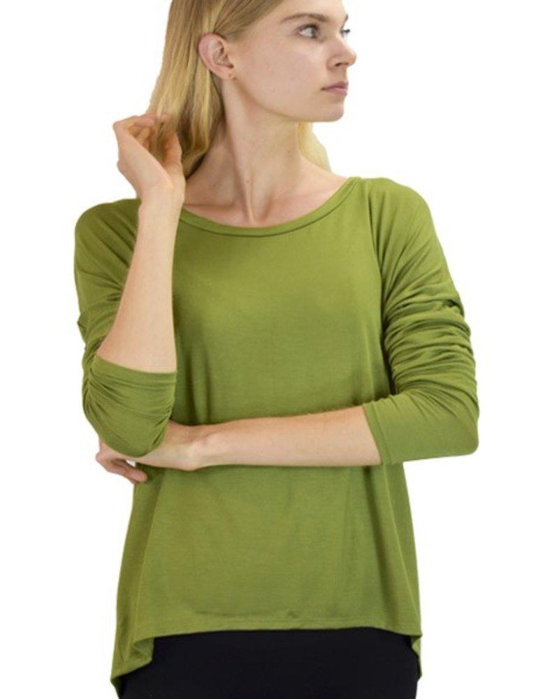 Heliotrope Top In Green
