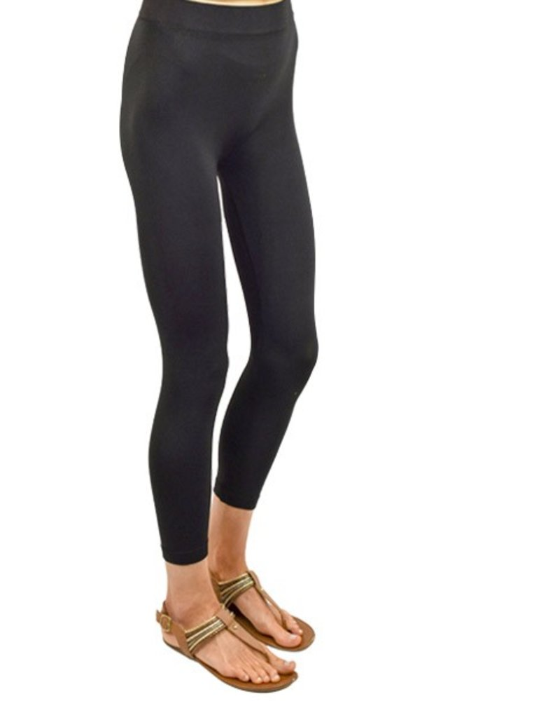 Long Leggings In Black