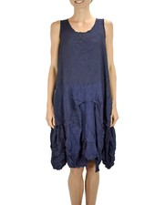 Comfy's Lori Jumper In Crushed Navy Crepe De Chine
