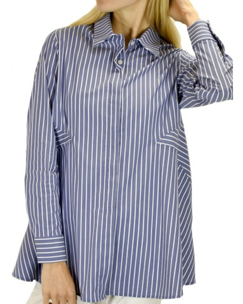 Comfy's Kyoto Shirt In Linda Stripe