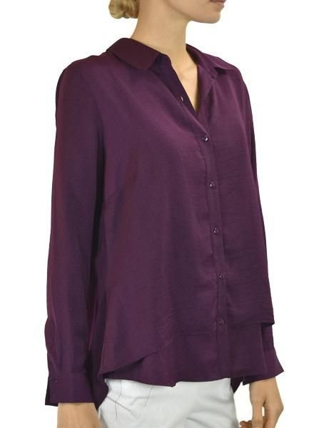 Renuar Renuar's Beautiful Button Down In Grape