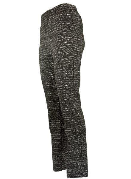 Renuar Renuar's Speckled Pant In Black & Ivory