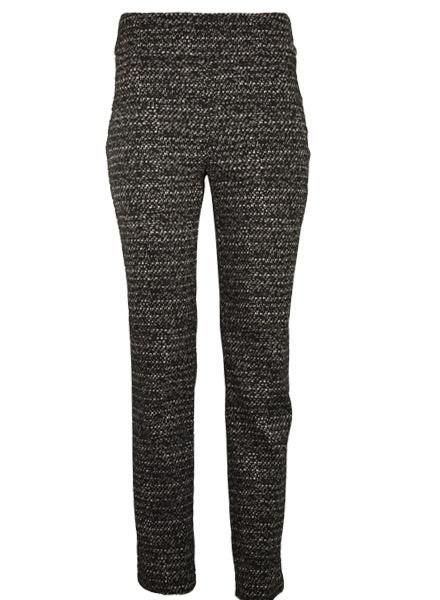Renuar Renuar's Speckled Pant In Black & Ivory