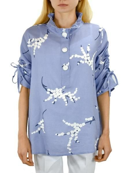 Terra's Cherry Blossom Top In Blue
