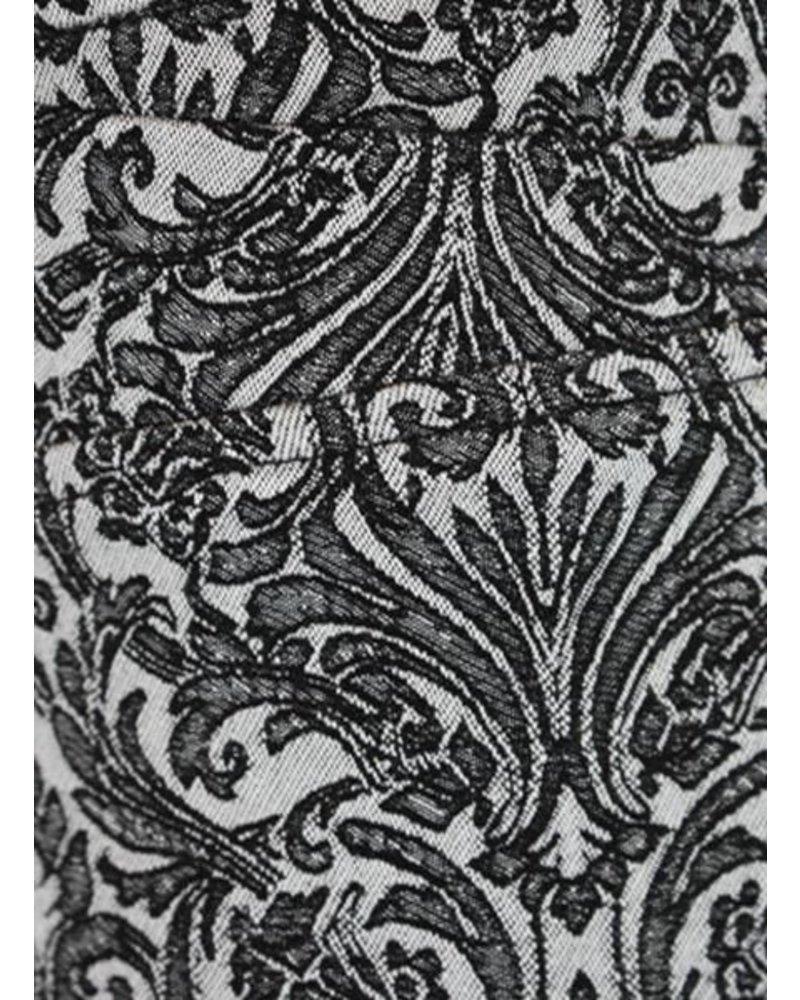 Renuar Renuar's Ankle Cigarette Pant In Jacard Silver