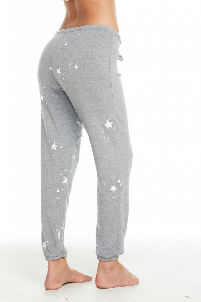 Cozy Knit Lounge Pants White Star