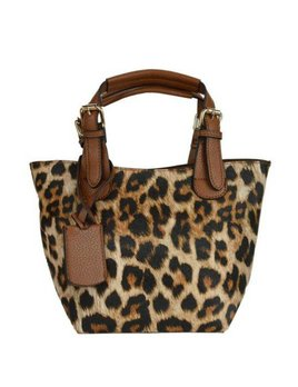 Ahdorned Leopard Bucket Bag