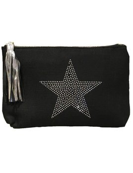 Ahdorned Linen Star Clutch
