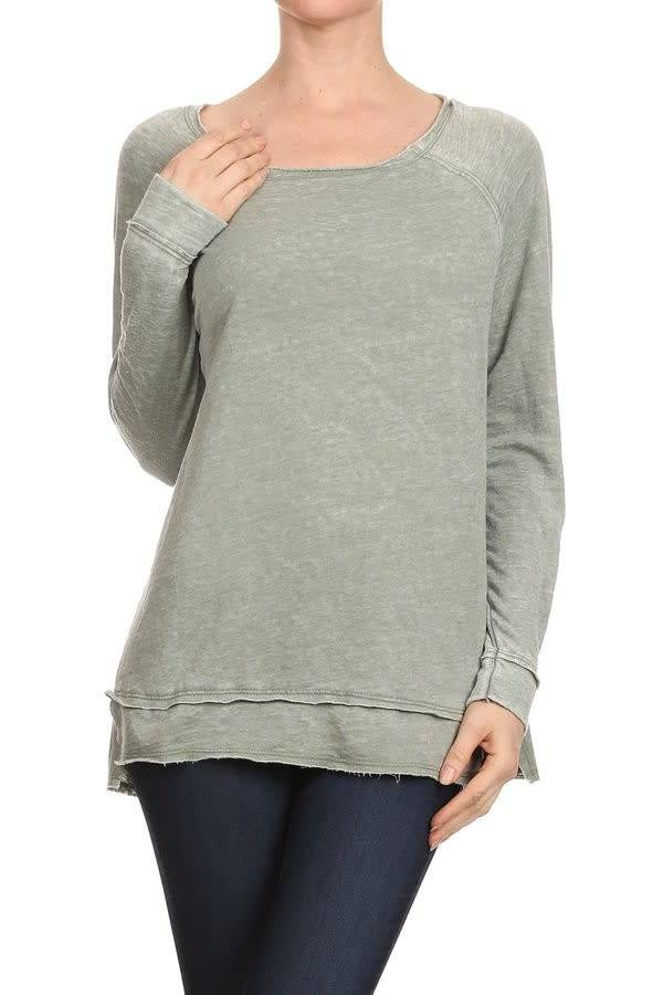 Raw Edge Burnout Sweater