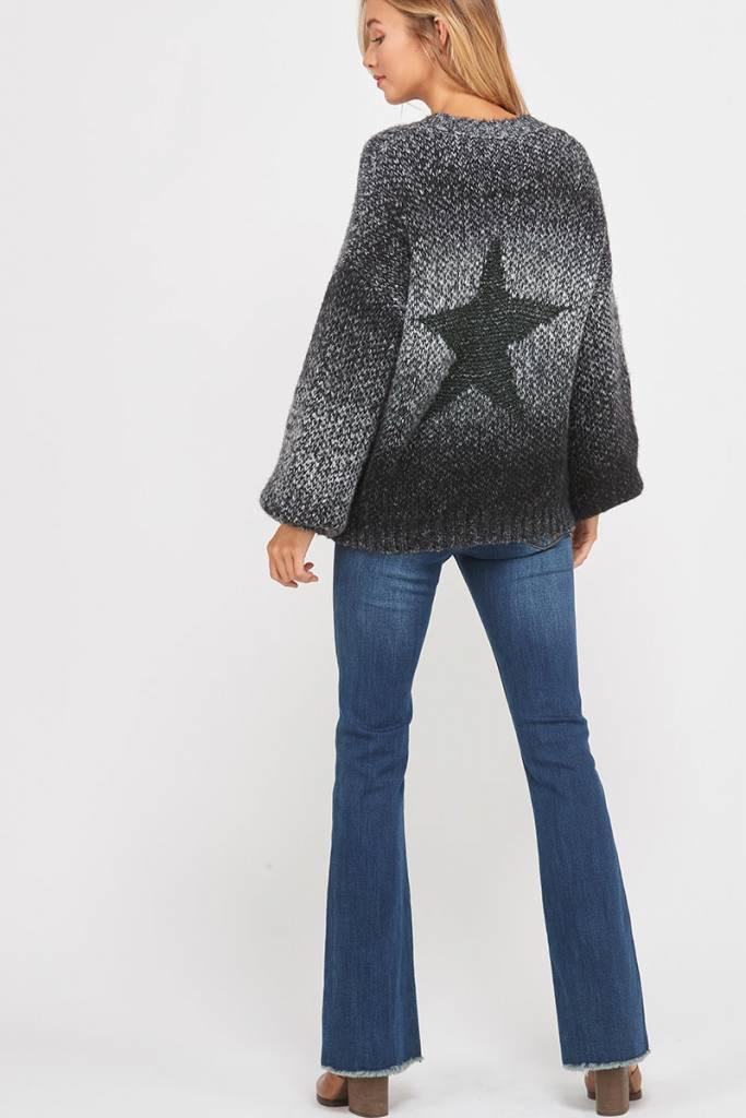 Ombre Metallic Star Sweater