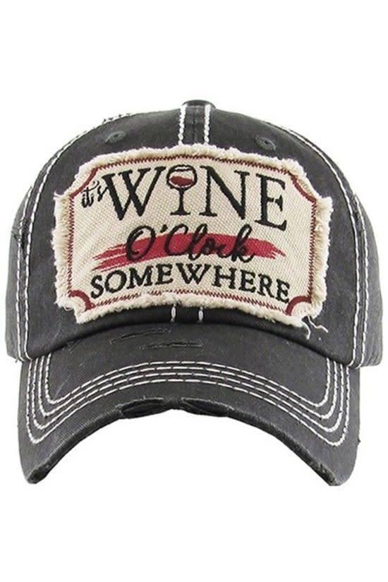 It's Wine O'clock Somewhere Baseball Cap
