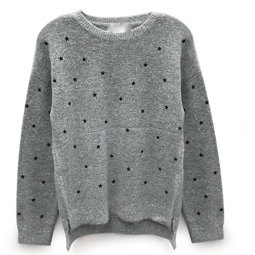 Fuzzy Star Sweater