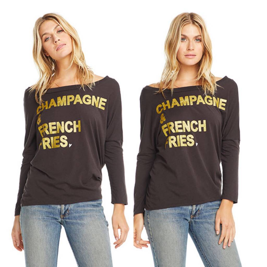 Champagne & French Fries Dolman Top